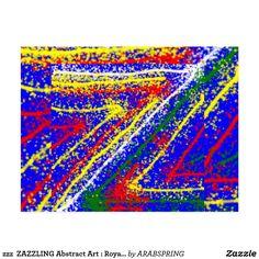 zzz  ZAZZLING Abstract Art : Royal Blue Streaks Postcard