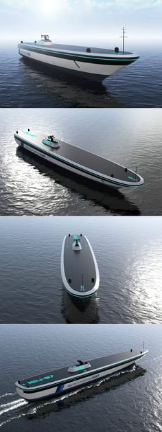 Autonomous vehicles are now a reality on land, and the next natural step is to take to the sea! The Algoritmi concept explores this possibility for cargo carrying vessels. Read Full Story at Yanko Design Yacht Design, Boat Design, Cool Boats, Yacht Boat, Super Yachts, Cool Tech, Jet Ski, Transportation Design, Water Crafts