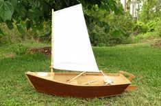 Houten Skiff zeilboot Model Kit voor American Girl 18 Inch