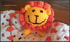 Lincoln the Lion Lovey Baby Lovey lion by HomespunAccessories, $17.00