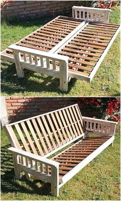 Wooden Pallet Furniture repurposed wood pallet bench plan - Now begin to adorn the elegance of your house with something much inspirational and trending everywhere. Yes, we are going to surprise you with the. Recycled Pallets, Wood Pallets, Repurposed Wood, 1001 Pallets, Pallet Patio Furniture, Pallet Sofa, Modern Furniture, Pallet Benches, Pallet Bar