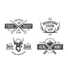 Hunt emblems deer logo vector by morys on VectorStock®