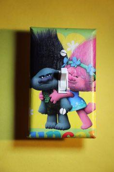 Trolls Movie Poppy & Branch Light Switch Cover boys girls kids room home decor