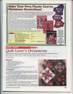 Star Bright and Quilt Lover's Ornaments 2/2