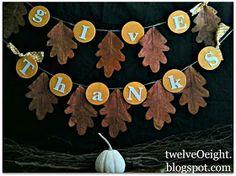 twelveOeight: DIY Thanksgiving Banner