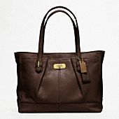 Nice basic chelsea leather large shopper by Coach. $398.00
