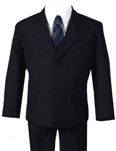 11f325aaf21 G186 BLACK BLUE Formal Boys Kids Dress Suit From Baby to Teen (X-