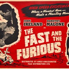 The Fast and The Furious UK Quad 1954 – Current sales – Barnebys.com