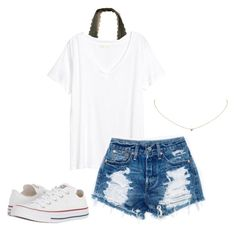 """""""*8"""" by kkayyllee on Polyvore featuring Hollister Co., Tiffany & Co. and Converse"""