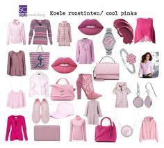"""Koele rozetinten/ cool pinks."" By Margriet Roorda-Faber."