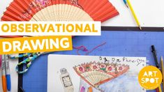 Easy Art for Kids: Observational Drawing Observational Drawing, Easy Art For Kids, Process Art, Simple Art, Art Activities, Beach Mat, Art Projects, Outdoor Blanket, Drawing Skills