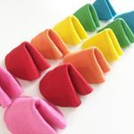 Wishing you HAPPINESS and good fortune in the New Year Were gearing up for the Chinese New Year celebration at the end of the month with these fun and colorful felt fortune cookies Tutorial on Madewithhappy tomorrow morning