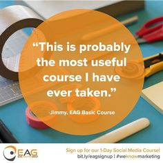 Such a great testimonial from a student last week! Join the ranks of over 1000 professionals we've trained. Sign up for our 1-day course now! Link in bio! #socialmedia #marketing #tampabay 1 Day, Join, Training, Student, Social Media, Marketing, Photo And Video, Instagram, Work Outs
