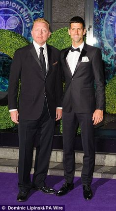 Dream team: Becker and Djokovic...