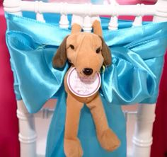 #chair Puppy Themed Birthday Party. Gorgeous puppy boutique dessert store front, life size puppy houses for the relay races and puppy house centerpieces all custom made by #bambinisoiree.