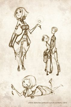 Yhihre Sketches by `sambees on deviantART Character Design / Reference Drawing / Sketches
