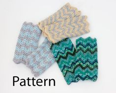 PDF Chevron Fingerless Gloves Knitting  Pattern. by beadedwire, $5.00