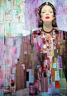 Richard Burlet / To Klimt Woman Painting, Figure Painting, Richard Burlet, Kunst Online, Painted Ladies, Portrait Art, Medium Art, Figurative Art, Love Art