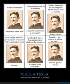 NIKOLA TESLA - Personas como él hacen falta en el mundo   Gracias a http://www.cuantarazon.com/   Si quieres leer la noticia completa visita: http://www.estoy-aburrido.com/nikola-tesla-personas-como-el-hacen-falta-en-el-mundo/
