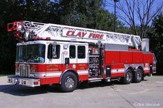 Clay (IN) Fire Territory Truck 291 - 1999/2001 HME/Ferrara 109' Aerial Ladder - 1500gpm/300gal