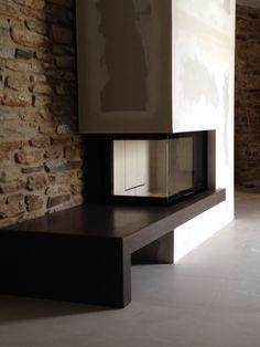 chimenea de leña de diseño en O Grove                              …