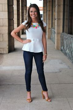 ella scott - Isn't She Fancy Peplum Top, $39.00 (http://www.shopellascott.com/isnt-she-fancy-peplum-top/)