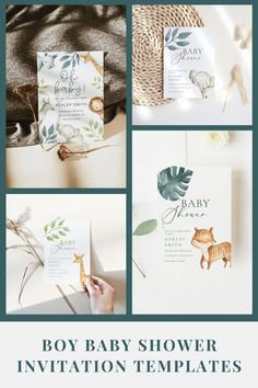 Looking for a baby shower invitation for your boy baby shower? Here are some ideas for you! All of these invitations are customizable and available for INSTANT download. Printable Baby Shower Invitations, Baby Shower Printables, Boy Baby Shower Themes, Baby Boy Shower, Virtual Baby Shower, As You Like, Shower Ideas, Jungle Theme, Web Browser