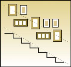 Decorating a Staircase {Ideas & Inspiration} picture wall arrangement organization The post Decorating a Staircase {Ideas & Inspiration} appeared first on Wandgestaltung ideen. Stairway Pictures, Stairway Gallery Wall, Gallery Walls, Frame Gallery, Stairway Art, Stair Gallery, Art Gallery, Picture Frame Layout, Picture Collages