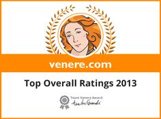 Top Overall Ratings 2013 - Venere.com Awards