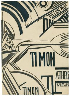 Wyndham Lewis. Timon of Athens. A set of title pages and page décor. Drawing, 1912. Folger Shakespeare Library.