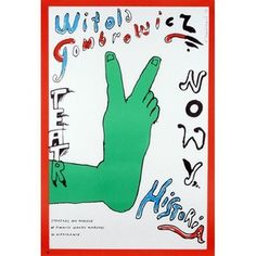 Historia, Gombrowicz,... Polish, Poster, Character, Historia, Event Posters, Cinema, Vitreous Enamel, Billboard, Lettering