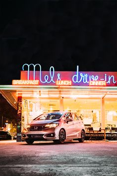 When the sun's away, the Fit comes out to play. Plenty of passenger room means more friends for late-night drives, diner runs and neon light-gazing. Late Night Drives, Night Driving, Honda Fit, Night Shift, Small Cars, Best Model, Jazz, Automobile, Sporty