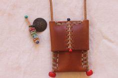 Henry Cuir Henry Beguelin Barneys Beaded Necklace Saddle Leather | eBay