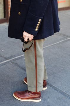 Nice stripe! Pic by The Sartorialist.