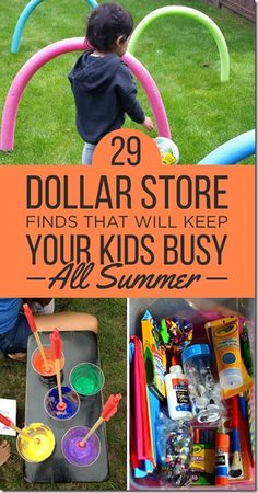 29 Summer Activities for Kids from the Dollar Store! FUN kids activities for families on a budget.