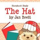 """The Hat by Jan Brett  =============================================  Save 50%! This product is also included in our Jan Brett Author Study Bundle.  =============================================  Included in this storybook study: ‣ """"Getting to Know Hedgie"""" ‣ Story Summary worksheet ‣ True or False? (cut and paste worksheet) ‣ Put It In Order (sequencing cut and paste worksheet) ‣ """"The Hat Color-By-Answer"""" glyph activity  ‣ Staying Warm Class Poll ‣ """"What Are Those Silly Animals Wearin..."""