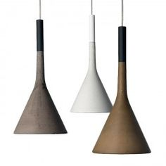 European modern lighting: Since Artemide to Foscarini Wood Pendant Light, Pendant Lighting, Light Fittings, Light Fixtures, Modern Lighting, Lighting Design, Suspension Cable, Blinded By The Light, Concrete Light