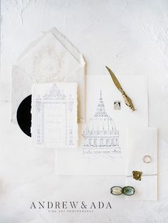 Elegant Wedding Stationery and Calligraphy From A Romantic Elopement in Historic, Extravagant City Hall of San Fransisco. #fineartweddingsinspiration #fineartweddingsphotography #brideandgroomphotography #weddingphotographyinspiration