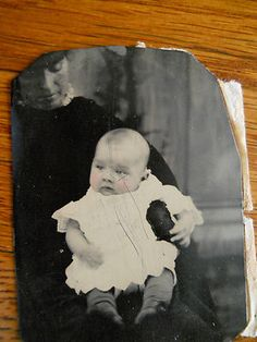 Cute Baby Hidden Mother Antique Tintype Photo | eBay