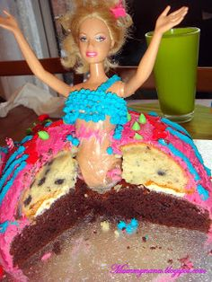 Mummy Nana: How To Make an (Instant) Barbie Cake