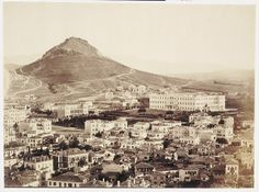 Athens from Acropolis, Greece, circa 1860 Athens History, Greek History, My Athens, Athens Greece, Acropolis Greece, Bauhaus, Greek Art, Thessaloniki, Greece Travel