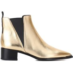 780071b36936 Acne Studios Jensen Metallic Leather Ankle Boots ( 650) ❤ liked on Polyvore  featuring shoes