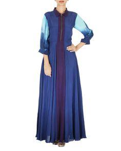 Royal blue long dress  |  Shop now: www.thesecretlabel.com