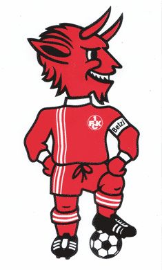 Kaiserslautern Red Devils // Local 1FCK soccer team mascot.  Make it a to-do list to check out the Kaiserslautern 1FCK soccer game.  Germans have a great passion for their soccer, similar to the Americans with their love of football.  You will be amazed how much fun it is, the excitement of the audience will move you ... I promise you that!