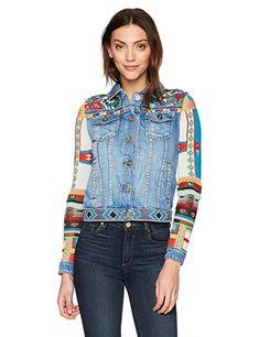 Desigual damen jeansjacke jacke chaq_ethnic deluxe