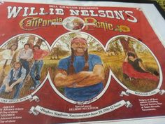 Vintage Willie Nelson second annual California picnic poster 1981 Sacramento