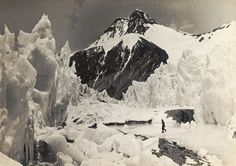 Everest team member in the ice pinnacles of the East Rongbuk Glacier – RGS Print Store