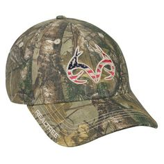 Realtree Xtra American Flag Antler Cap