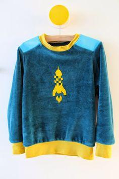 Lily en Woody: Leather sweater van LMV voor jong en oud