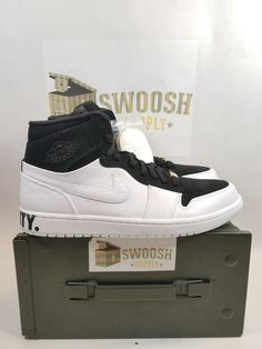 separation shoes 6ab2c 0b284 Nike Air Jordan 1 Retro Hi EQUALITY Melo BHM Black White Gold AJ1 AQ7474-001